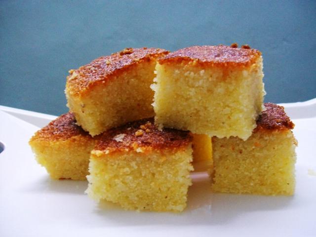 Baked rava sooji cake an indian version of basbousa let forumfinder Choice Image