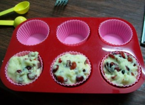 eggless cranberry muffins