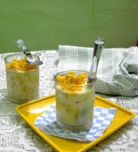 hot custard mango drink