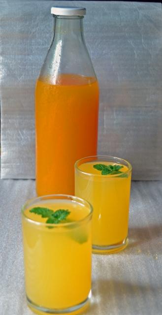 orange sharbat / orange squash