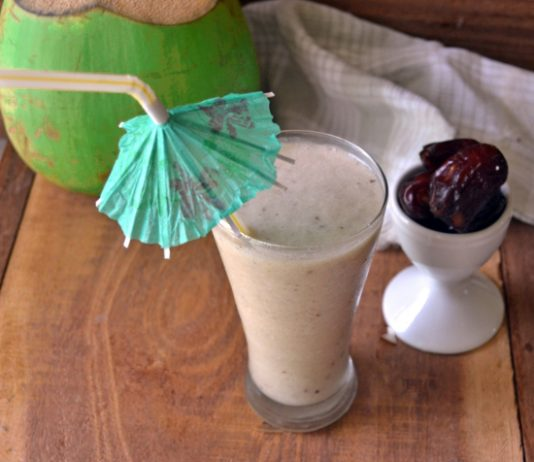 Tender coconut Dry fruits smoothie